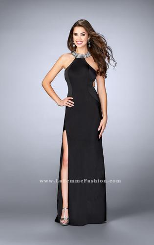 Picture of: High Neck Jersey Dress With Beading and Strappy Back, Style: 23982, Detail Picture 2
