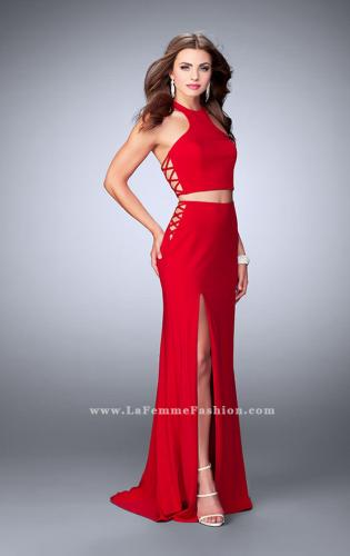 Picture of: Two Piece Dress with Lace Up Sides and Racer Back, Style: 23984, Main Picture
