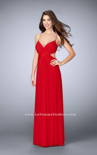 Picture of: Net Jersey Dress with Beaded Sweetheart Neckline, Style: 23988, Main Picture