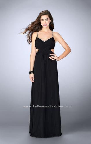 Picture of: Net Jersey Dress with Beaded Sweetheart Neckline, Style: 23988, Detail Picture 1