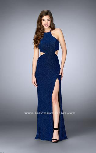 Picture of: Long Sparkly Jersey Prom Dress with Strappy Back, Style: 23992, Detail Picture 2
