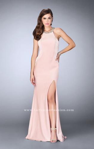 Picture of: High Beaded Neck Prom Dress with Strappy Back, Style: 23993, Detail Picture 2