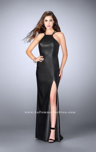 Picture of: High Neck Vegan Leather Dress with Strappy Back, Style: 24041, Main Picture