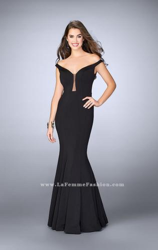 Picture of: Off The Shoulder Prom Dress with Open Back, Style: 24097, Main Picture