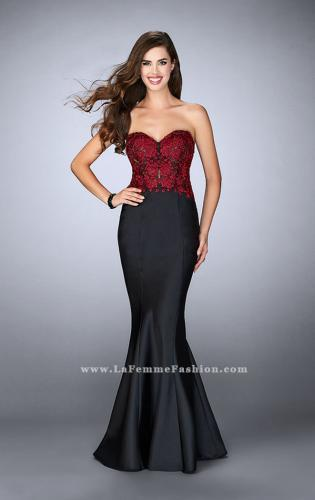 Picture of: Mikado Mermaid Dress with Lace Top and Open Back, Style: 24123, Main Picture