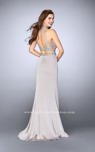 Picture of: Long Beaded Two Piece Prom Dress with Side Slit, Style: 24126, Back Picture