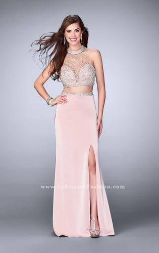 Picture of: Long Beaded Two Piece Prom Dress with Side Slit, Style: 24126, Detail Picture 1