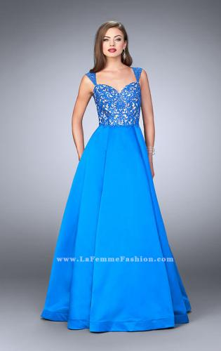 Picture of: A-line Prom Dress with Embroidery and Open Back, Style: 24147, Main Picture