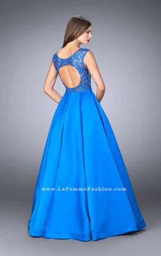 Picture of: A-line Prom Dress with Embroidery and Open Back, Style: 24147, Back Picture