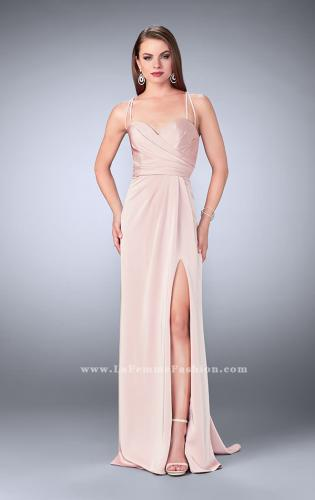 Picture of: Gathered Jersey Prom Dress with Sweetheart Neckline, Style: 24263, Detail Picture 2
