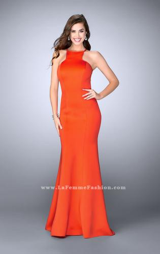 9b67e7cbc72 Picture of  High Neck Neoprene Prom Dress with Strappy Back