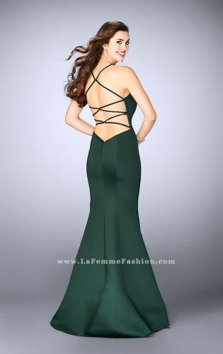 Picture of: High Neck Neoprene Prom Dress with Strappy Back, Style: 24374, Back Picture
