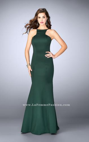 Picture of: High Neck Neoprene Prom Dress with Strappy Back, Style: 24374, Detail Picture 1