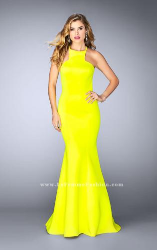 Picture of: High Neck Neoprene Prom Dress with Strappy Back, Style: 24374, Detail Picture 2