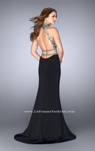 Picture of: Two Piece Prom Dress with Open Back and Cut Outs, Style: 24390, Back Picture