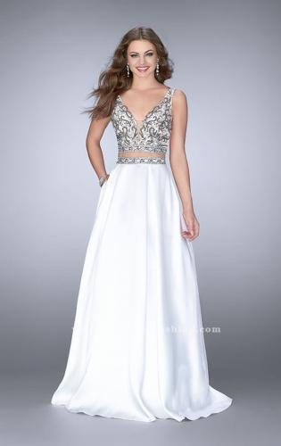 Picture of: A-line Two Piece Dress with Beaded Top and Pockets, Style: 24397, Main Picture