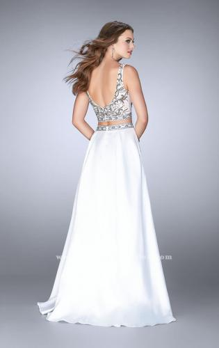 Picture of: A-line Two Piece Dress with Beaded Top and Pockets, Style: 24397, Back Picture
