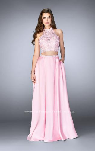 Picture of: A-line Lace Two Piece Dress with Floral Embroidery, Style: 24407, Main Picture