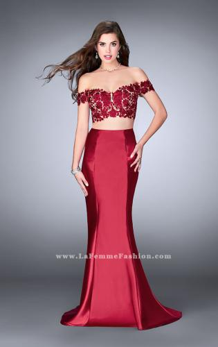 Picture of: Two Piece off the Shoulder Prom Dress with Lace Detail, Style: 24413, Main Picture