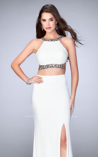 Picture of: Long Two Piece Prom Dress with Beading and Slit, Style: 24414, Main Picture