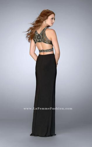 Picture of: Long Two Piece Prom Dress with Beading and Slit, Style: 24414, Back Picture