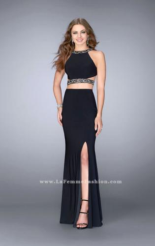 Picture of: Long Two Piece Prom Dress with Beading and Slit, Style: 24414, Detail Picture 1