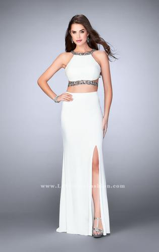 Picture of: Long Two Piece Prom Dress with Beading and Slit, Style: 24414, Detail Picture 2