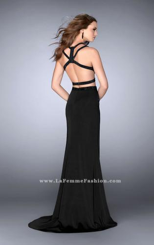 Picture of: Beaded strappy two piece with a high neckline, Style: 24420, Back Picture