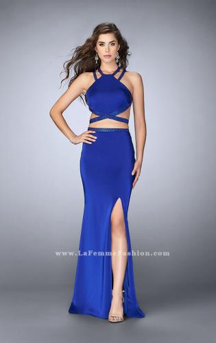 Picture of: Beaded strappy two piece with a high neckline, Style: 24420, Detail Picture 2