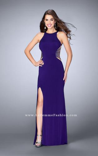 Picture of: Fitted Prom Dress with Strappy Sides and High Neckline, Style: 24432, Detail Picture 2