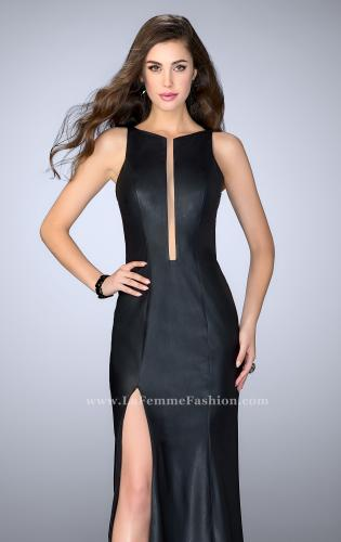Picture of: High Neck Vegan Leather Dress with Open Back, Style: 24469, Main Picture