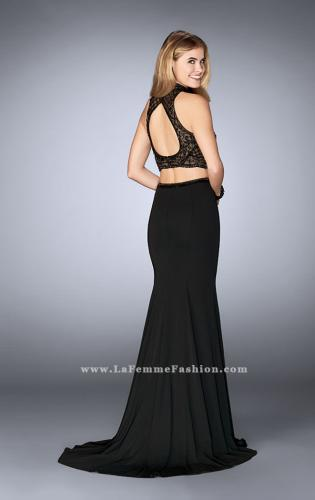 Picture of: Two Piece Prom Dress with Beading and Side Leg Slit, Style: 24494, Back Picture