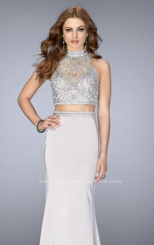 Picture of: High Neck Two piece Prom Dress with Detailed Beading, Style: 24495, Main Picture