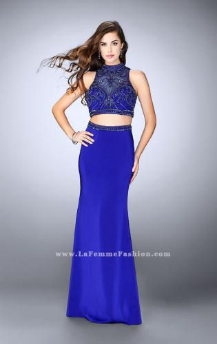 Picture of: High Neck Two piece Prom Dress with Detailed Beading, Style: 24495, Detail Picture 1