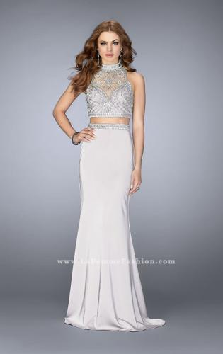 Picture of: High Neck Two piece Prom Dress with Detailed Beading, Style: 24495, Detail Picture 2