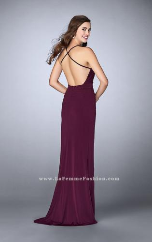 Picture of: Gathered Beaded Jersey Dress with Envelope Skit, Style: 24539, Back Picture