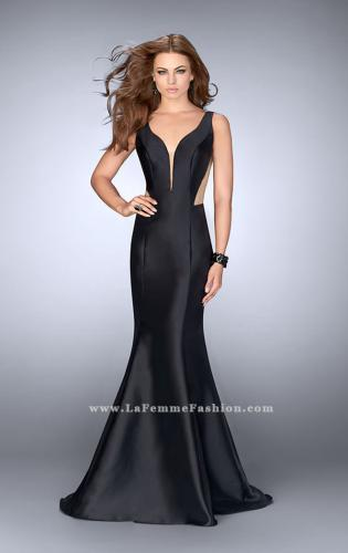 Picture of: Mermaid Prom Dress with Deep V Neckline and Ruffles, Style: 24555, Back Picture