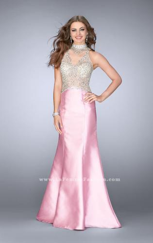 Picture of: Beaded Prom Gown with Mermaid Skirt and Beading, Style: 24562, Main Picture