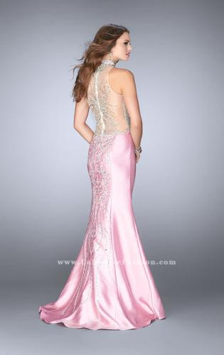 Picture of: Beaded Prom Gown with Mermaid Skirt and Beading, Style: 24562, Back Picture