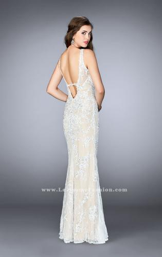 Picture of: Flare Lace Prom Dress with High Neck and Low Back, Style: 24565, Back Picture