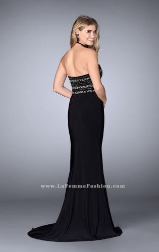 Picture of: Strapless Dress with Beaded Top with Flare Skirt, Style: 24573, Back Picture