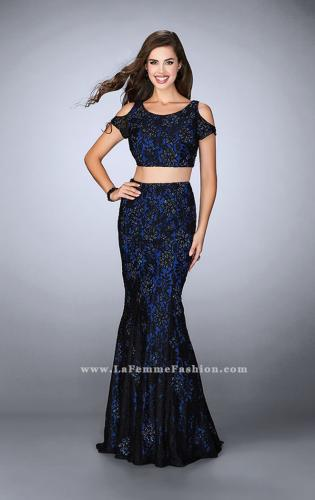 Picture of: Two Piece Cold Shoulder Lace Dress with Beading, Style: 24583, Detail Picture 2