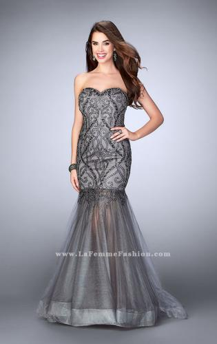 Picture of: Beaded Strapless Dress with Tulle Mermaid Skirt, Style: 24616, Main Picture