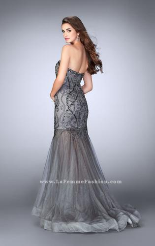 Picture of: Beaded Strapless Dress with Tulle Mermaid Skirt, Style: 24616, Back Picture