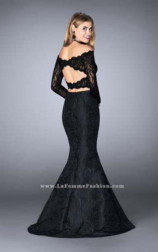 Picture of: Two Piece Lace Top Prom Dress with Mermaid Skirt, Style: 24648, Back Picture