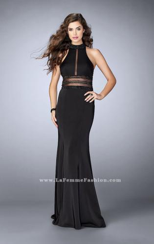 Picture of: Jersey Dress with Sheer Beaded Back and Waist, Style: 24654, Main Picture