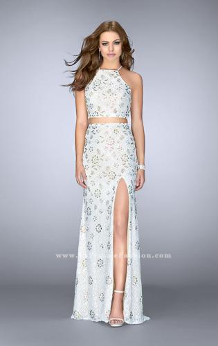 Picture of: Two Piece White Lace Dress with Multi Color Beading, Style: 24678, Main Picture
