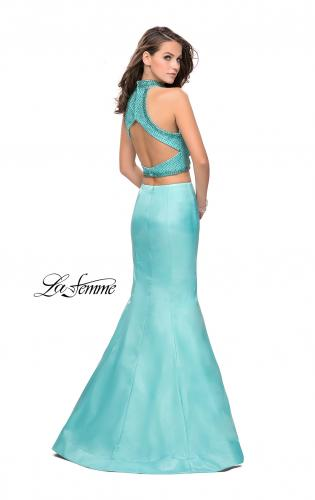 Picture of: Beaded Two Piece Mermaid Prom Dress with Open Back, Style: 26255, Detail Picture 2