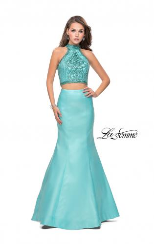 Picture of: Beaded Two Piece Mermaid Prom Dress with Open Back, Style: 26255, Detail Picture 1