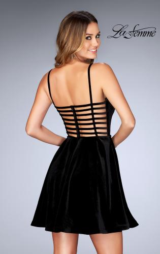 Picture of: Sweetheart Neckline Short Velvet Homecoming Dress, Style: 25108, Back Picture